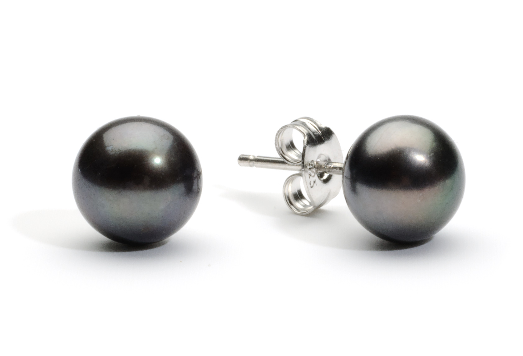 aaa freshwater stud earring pearls pearl collections black paradise earrings mm